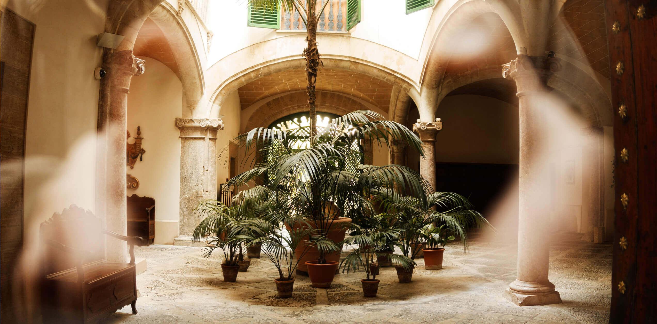 Eine tour durch Palma de Mallorca altstadt